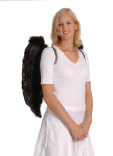Engelenvleugels zwart 65x65