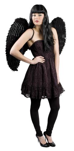 Engelenvleugels zwart 87x72