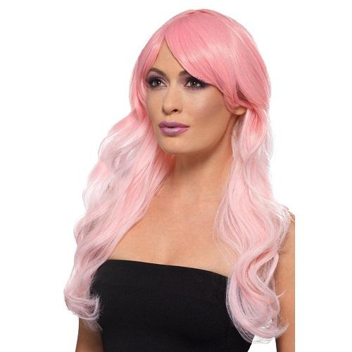 Fashion pruik Ombre roze