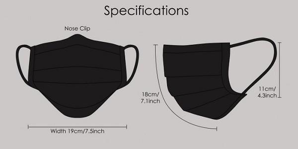 Fashionable mondmasker zwart