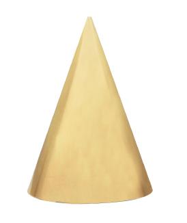 Festive gold glitter feestmutsjes 6t