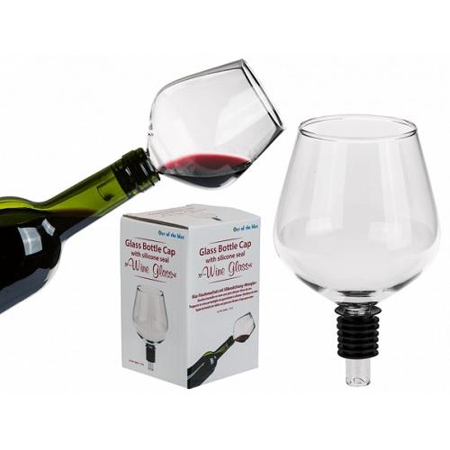Flessendop wijnglas