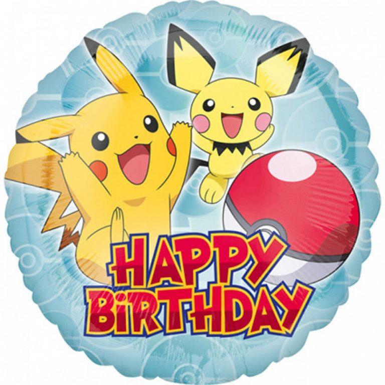Folie ballon Pikachu Happy Birthday 43cm