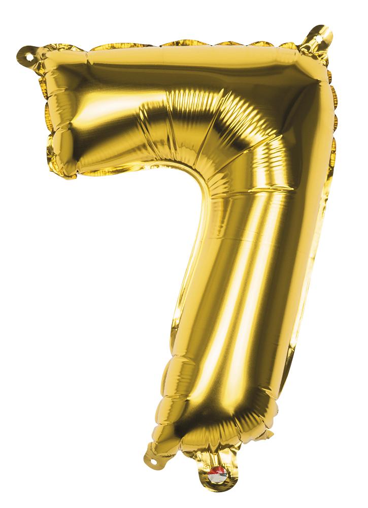 Folie cijfer 7 goud 36cm