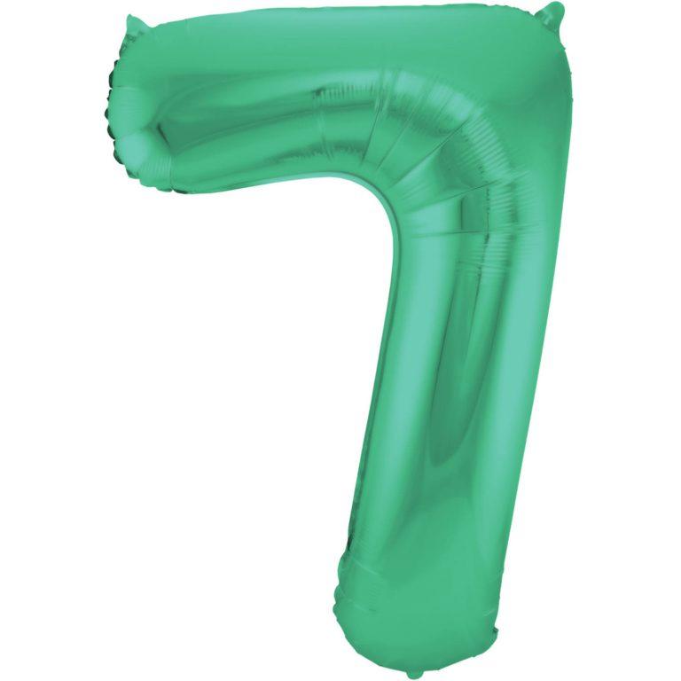 Folie cijfer 7 mat groen 86cm