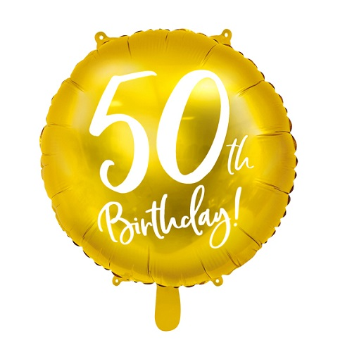 Folieballon 50 jaar goud 45cm