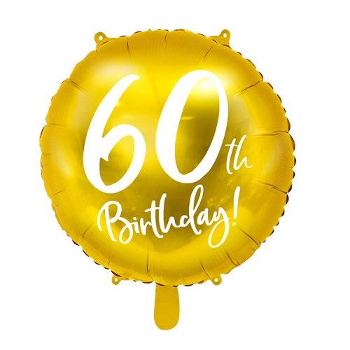 Folieballon 60 jaar goud 45cm