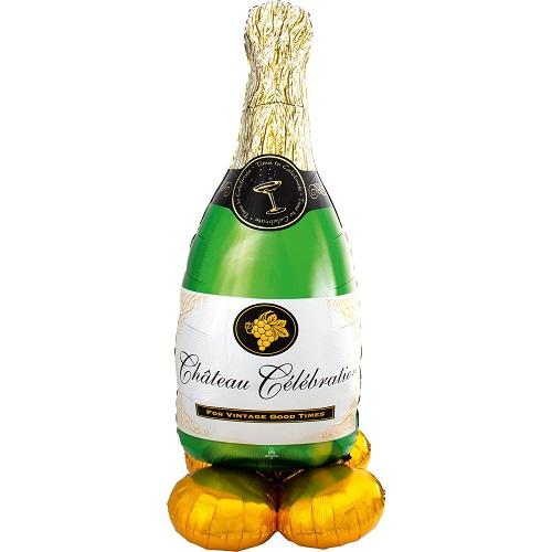 Folieballon Airloonz Bubbly Champagnefles
