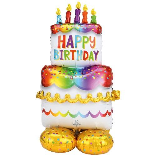 Folieballon airloonz happy birthday taart