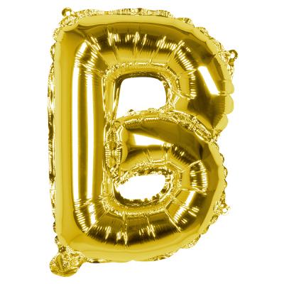 Folieballon B goud 36cm