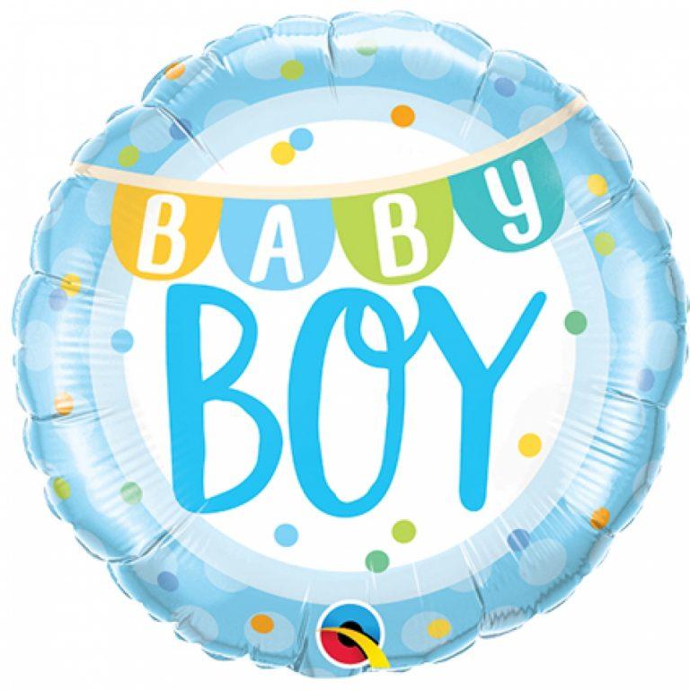 Folieballon baby boy banner 46cm