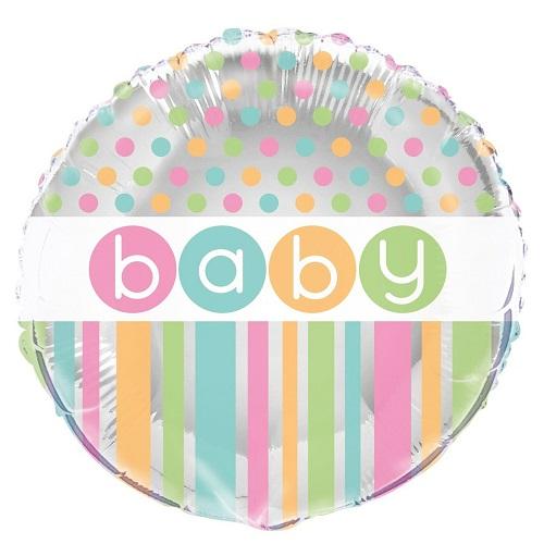 Folieballon baby pastel dots 46cm
