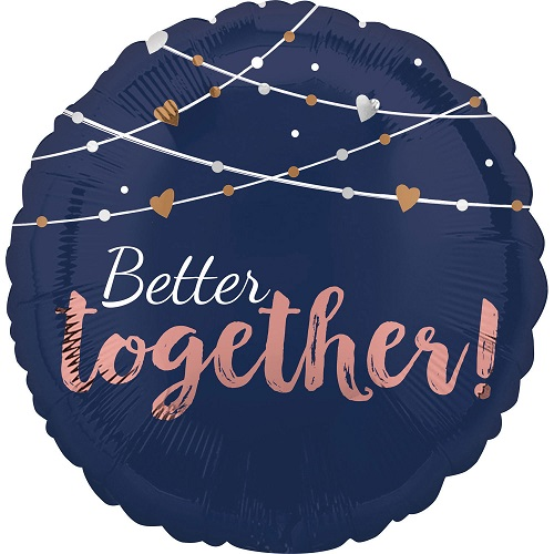 Folieballon better together navy