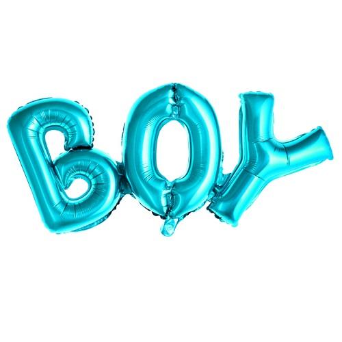 Folieballon boy blauw 67x29cm