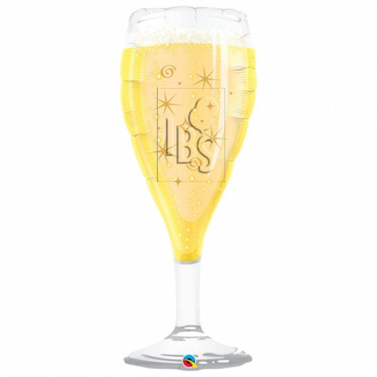 Folieballon Champagne glas 99cm