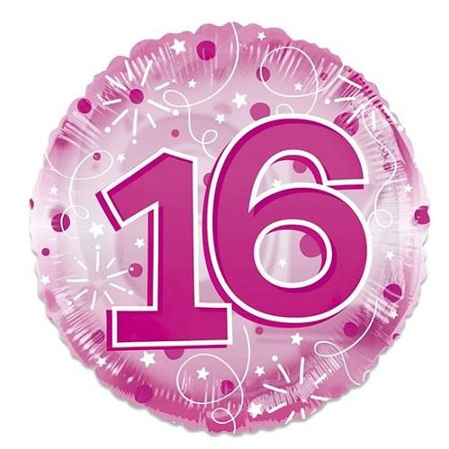 Folieballon clear pink 16 61cm