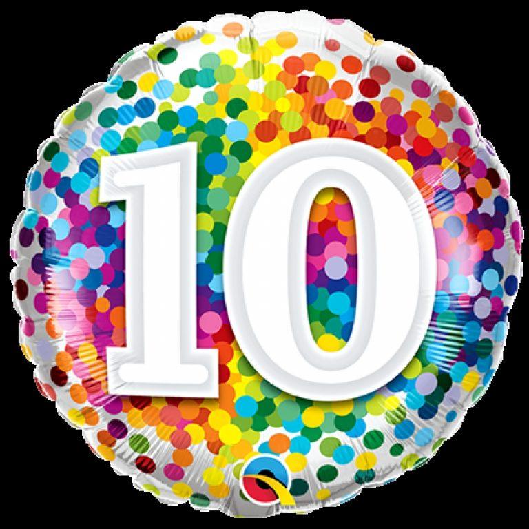 Folieballon confetti 10 46cm