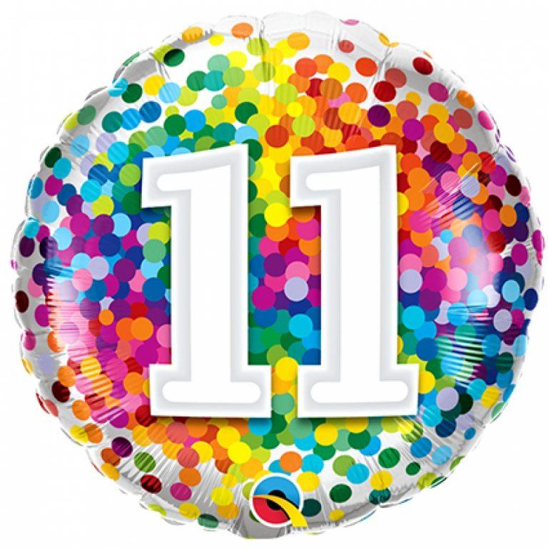 Folieballon confetti 11 46cm