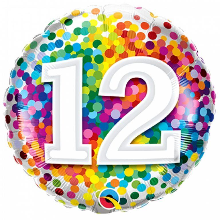 Folieballon confetti 12  46cm