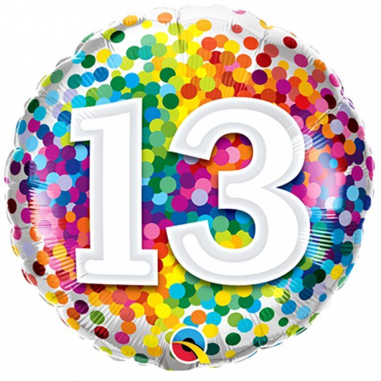 Folieballon confetti 13 46cm