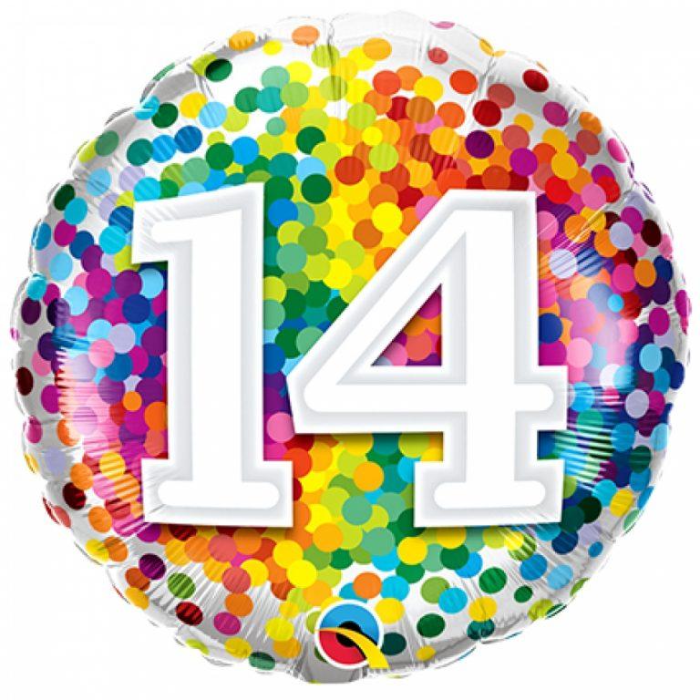 Folieballon confetti 14 46cm