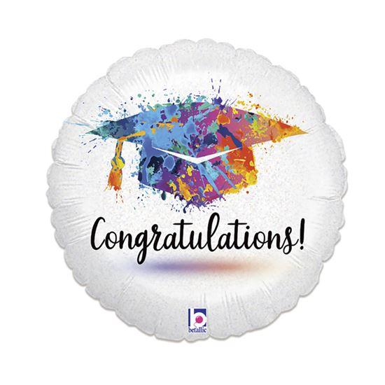Folieballon congratulations! 46cm