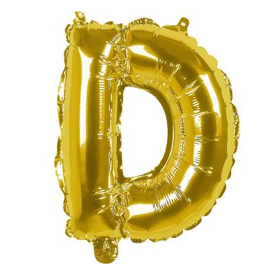 Folieballon D goud 36cm