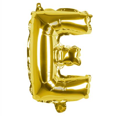 Folieballon E goud 36cm