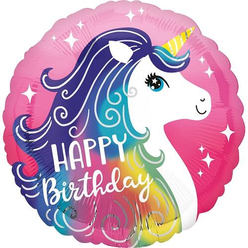Folieballon eenhoorn happy birthday