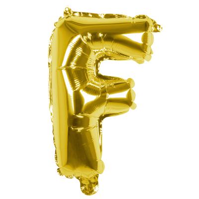 Folieballon F goud 36cm