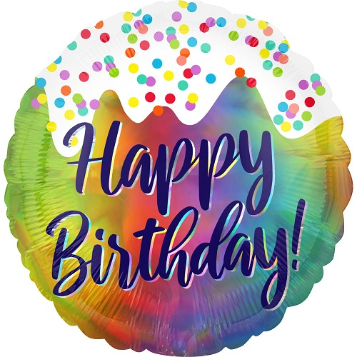 Folieballon Frosted Happy Birthday 45cm