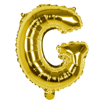 Folieballon G goud 36cm