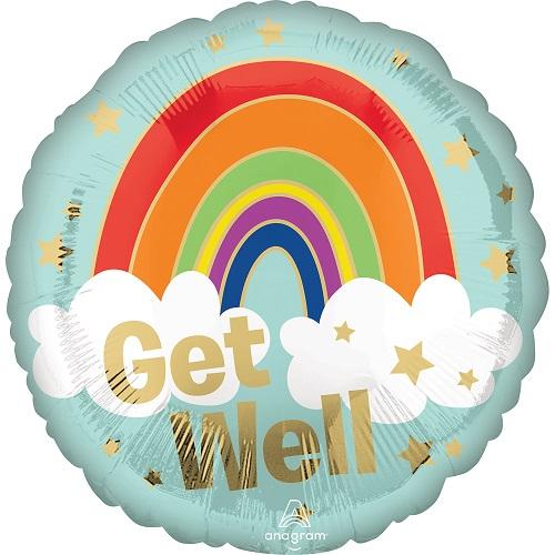 Folieballon get wel soon rainbow