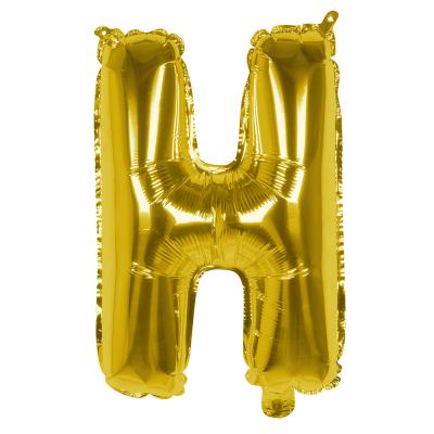Folieballon H goud 36cm