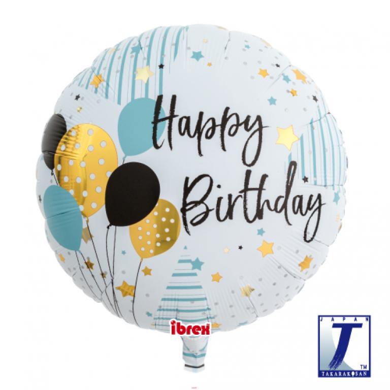 Folieballon happy birthday 35cm