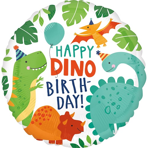 Folieballon happy dino birthday