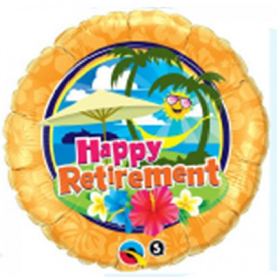 Folieballon happy retirement 46 cm