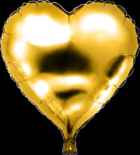 Folieballon hart goud 45cm