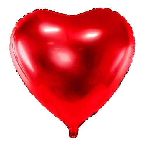 Folieballon hart rood 61cm