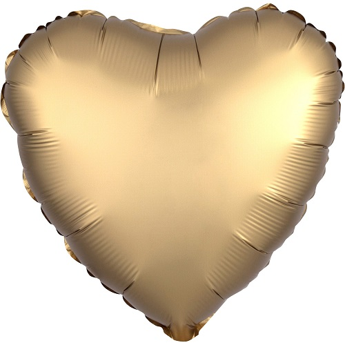 Folieballon hart satin goud