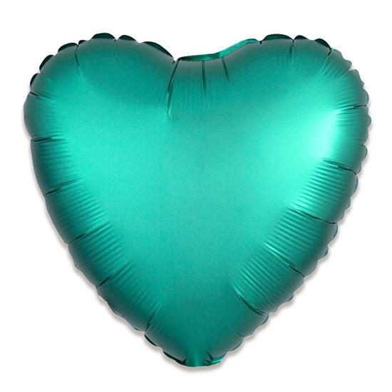 Folieballon hart satin jade 43cm