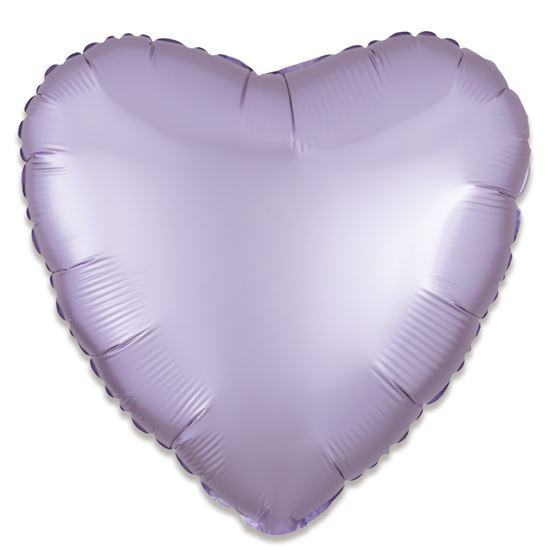 Folieballon hart satin lila pastel 43cm