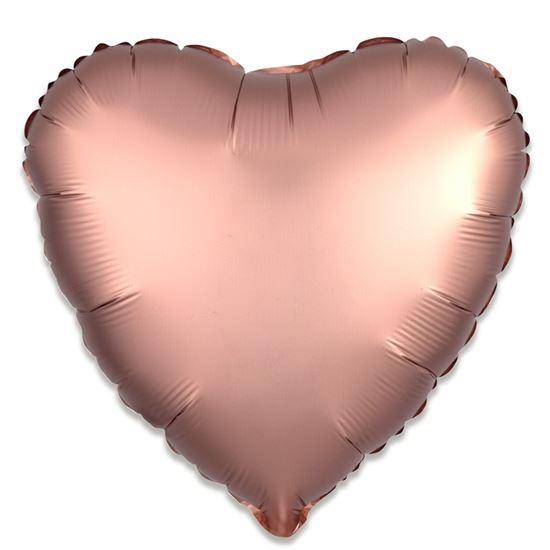 Folieballon hart satin rosékoper 43cm