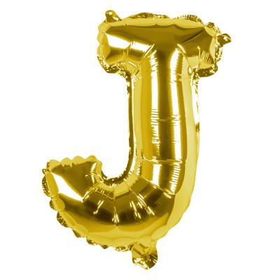 Folieballon J goud 36cm