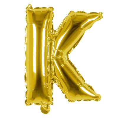 Folieballon K goud 36cm