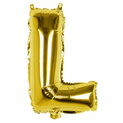 Folieballon L goud 36cm