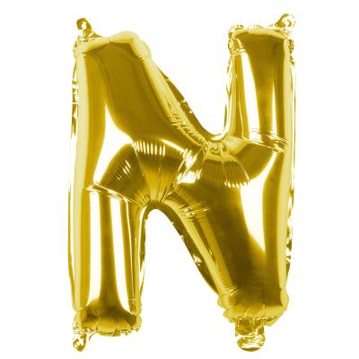 Folieballon N goud 36cm