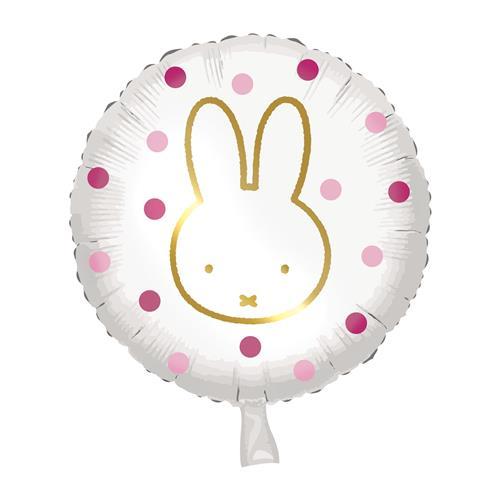 Folieballon Nijntje roze 45cm