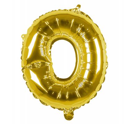 Folieballon O goud 36cm