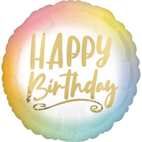 Folieballon ombré happy birthday